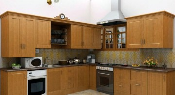 rustic modular kitchen