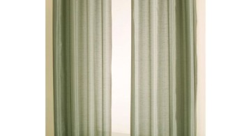 sheer curtains privacy in green
