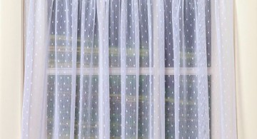 short polkadot sheer curtains privacy