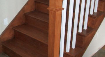 simple and rustic wood staircase