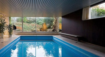 simple and small homes with indoor pools
