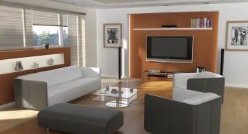 simple contemporary living room tv ideas