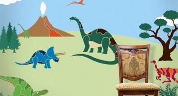 simple dinosaur wallpaper mural