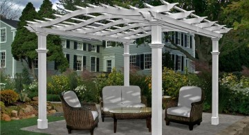 simple in white modern pergola kit