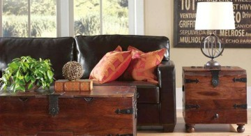 simple industrial trunk coffee table