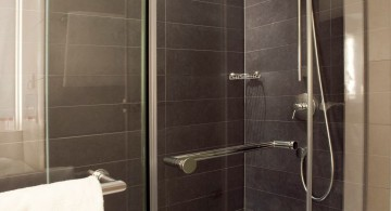 simple modern glass shower