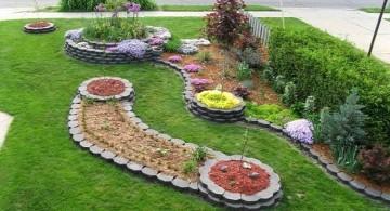 simple rock garden ideas with lovely arrangement