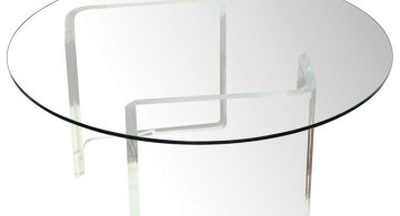 simple round acrylic cocktail table