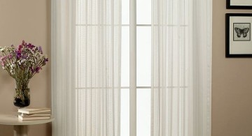 simple sheer curtains privacy in white