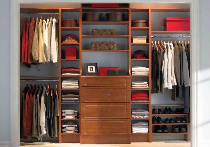 simple walk in closet furniture