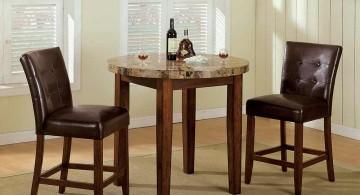 small minimalist granite dining room table