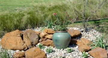 small rock garden designs with a fountain