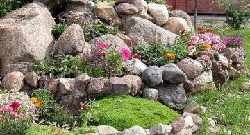 small rock garden designs with large stones