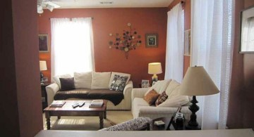 small sitting room ideas with red walls