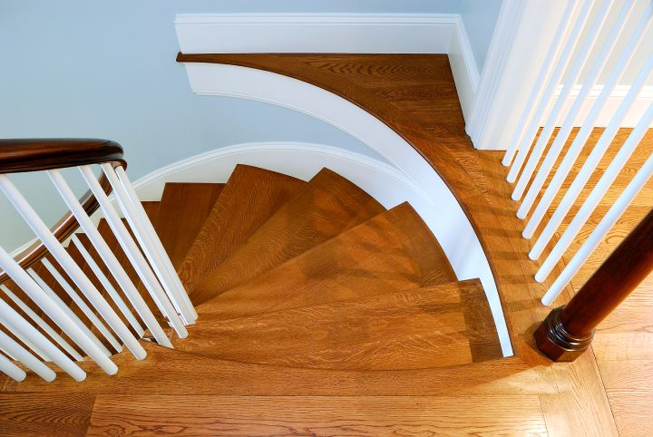 spiral wood staircase