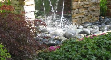 tall modern water features