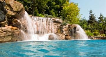 tall pool waterfall ideas