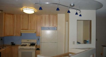 track lighting ideas for small kitchen with pendant lamp