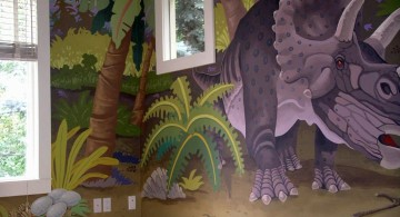 triceratop dinosaur wallpaper mural