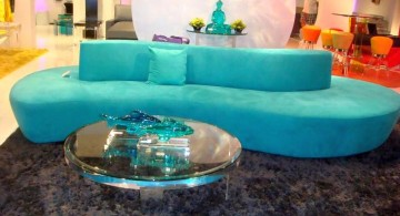 turquoise living room decor contemporary sofa