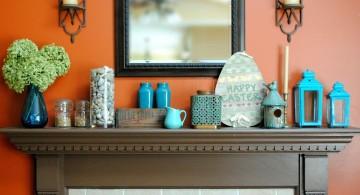 turquoise living room decor set