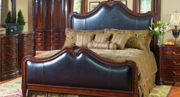 tuscan bedroom furniture with blue upholstery