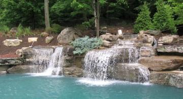 twin waterfall pool waterfall ideas