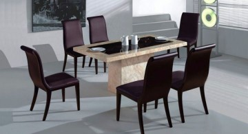 two toned granite dining room table