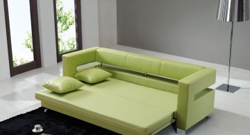 unique sleeper sofa in lime green