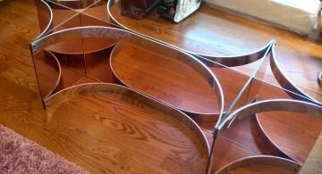 unique stand square lucite coffee table