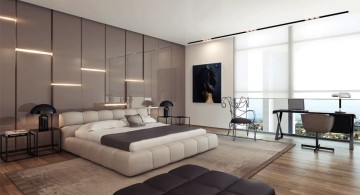 unique wall panels with lights installed