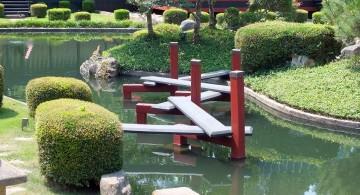 unique zigzag DIY garden bridge