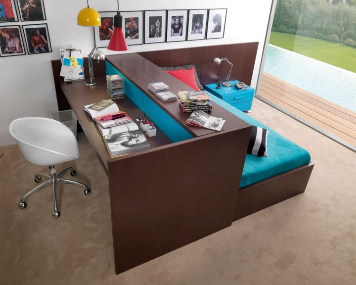 unusual desk bed for adults