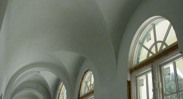vault ceilings in white