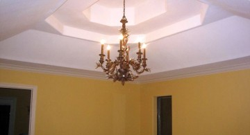 vault ceilings with chandelier