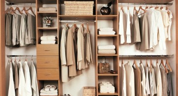 walk in closet furniture in beige