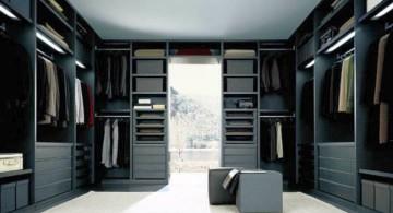 walk in closet furniture in sleek black