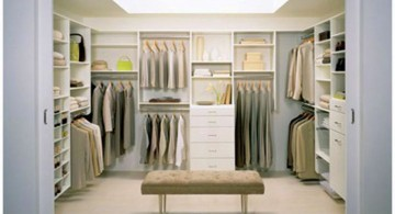 walk in closet furniture with bench