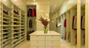 walk in closet furniture with island