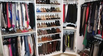 walk in closet furniture with shoe rack