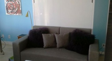 wall bed couch for small house