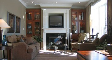 warm in chocolate and dark grey great room furniture layout