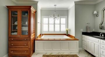 wood bathroom bathtub top