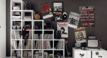 bookshelf and decoration funky bedroom ideas