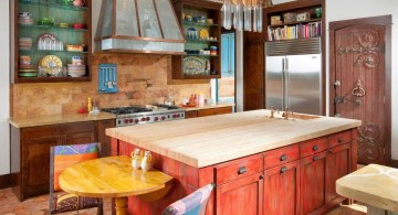 bright colored small mediterranean kitchen designs