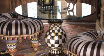checkered pedestal table base ideas
