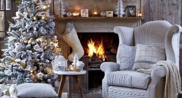 christmas room in white