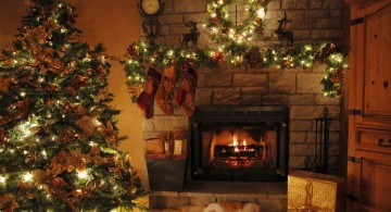 christmas room with small lights