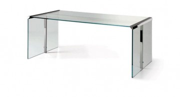 clear office desk modern lucite