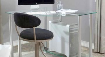 clear office desk simple minimalist